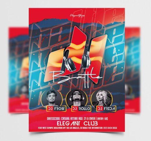 DJ Battle Event Free Flyer Template (PSD)