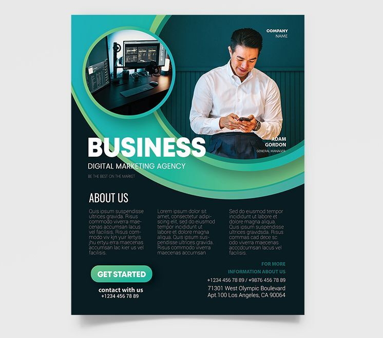 Free Business Ad #4 Flyer Template (PSD)