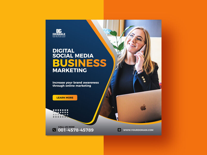 Free Business Ad Instagram Post Templates (PSD)