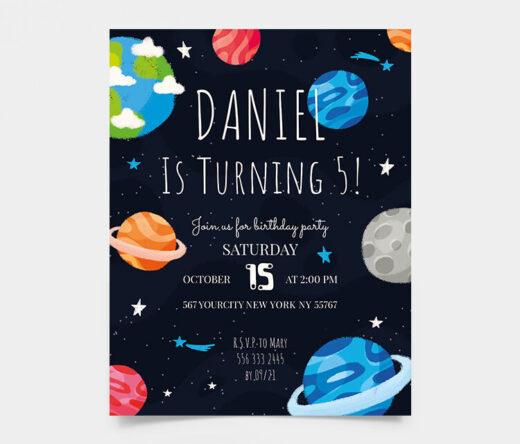 Free Kid's Birthday Invitation Flyer Template (PSD)