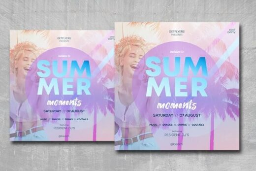 Free Summer Moments Instagram Banner (PSD)