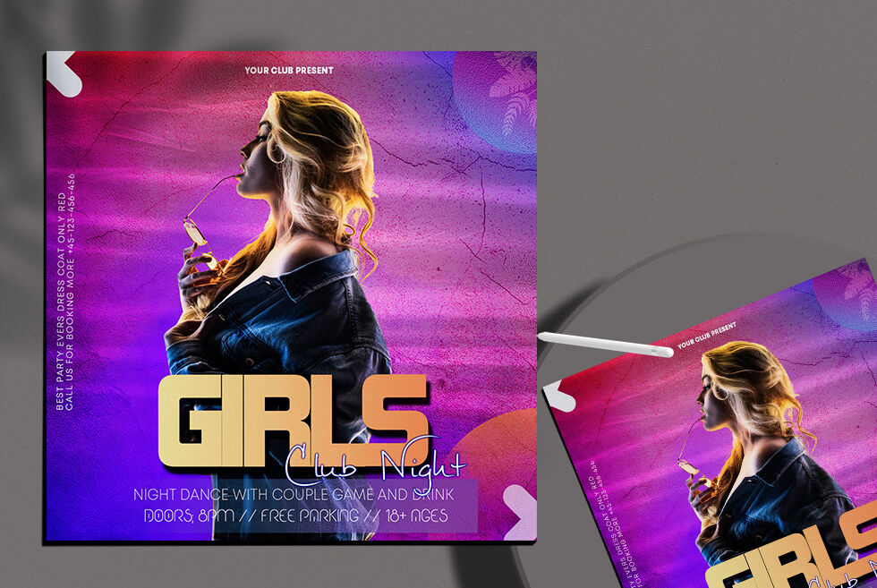 Girls Party Free Instagram Template (PSD)