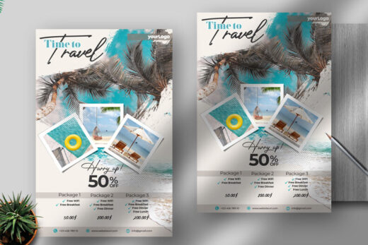 Holiday Travel Free Flyer Template (PSD)