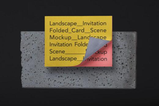 Invitation Card Free Mockup