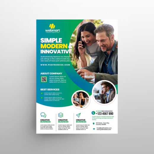 Modern Business Ad Free Flyer Template (PSD)