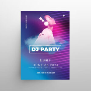 Music DJ 2021 Event Free Flyer Template (PSD)