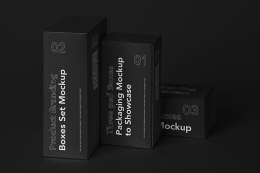 Product Box Packaging Free Mockup