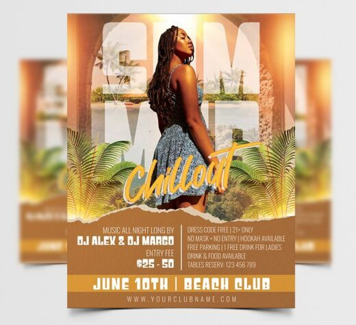 Summer Chillout Free Flyer Template (PSD)