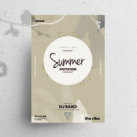 Summer Invitation Free Flyer Template (PSD)