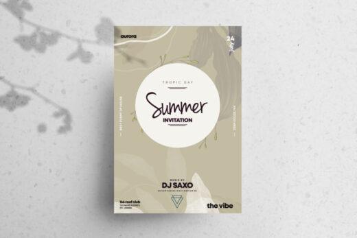 Summer Invitation Free Flyer Template (PSD)