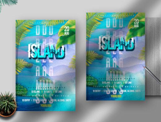 Summer Island Dreams Free Flyer Template (PSD)