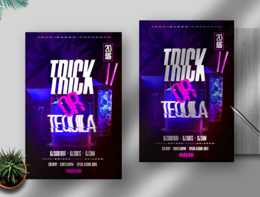 Tequila Party Free Flyer Template (PSD)