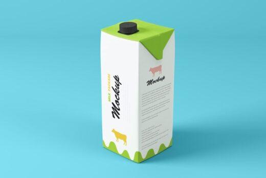 Tetra Pak 1L Package Free Mockup