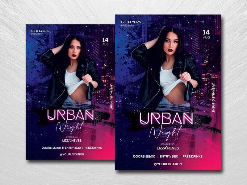 Urban Club Event Free Flyer Template (PSD)