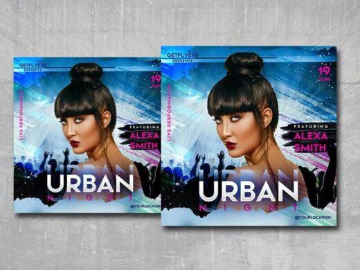 Urban DJ Party Free Flyer Template (PSD)
