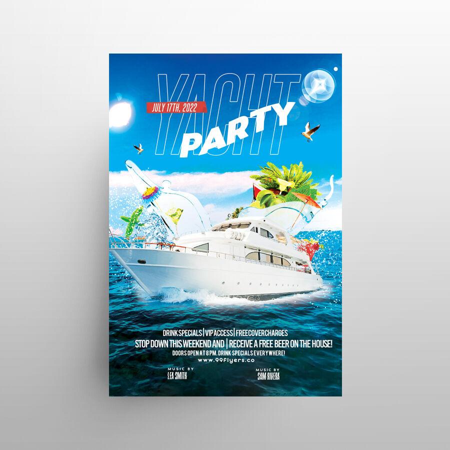 Yacht Summer Event Free Flyer Template (PSD)