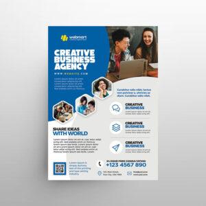 Creative Corporate Marketing Free Flyer Template (PSD)