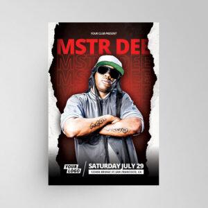 DJ Music Artist Free Flyer Template (PSD)