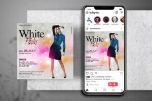 Elegant White & Pink Event Free Instagram Banner Template