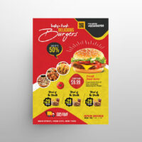 Fast Food Delivery Free Flyer Menu Template (PSD)