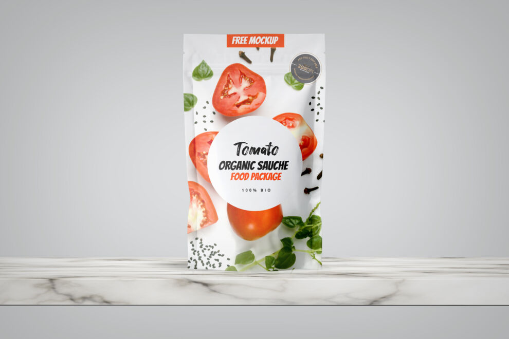 Food Organic Packaging Free Mockup