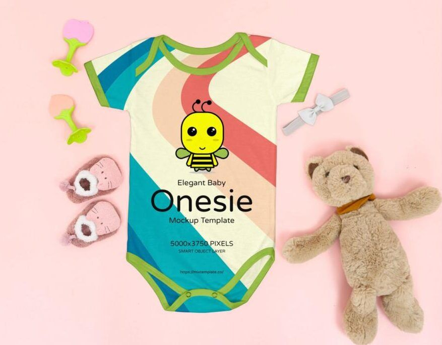 Free Baby Onesie Mockup (PSD)