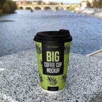 Free Big Coffee Cup Mockup (PSD)