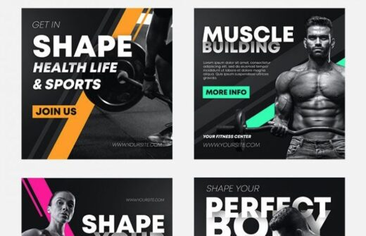 Free Fitness Gym Facebook Banners (PSD)