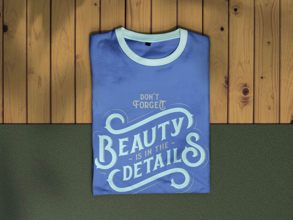 Free Folded T-Shirt Mockup (PSD)