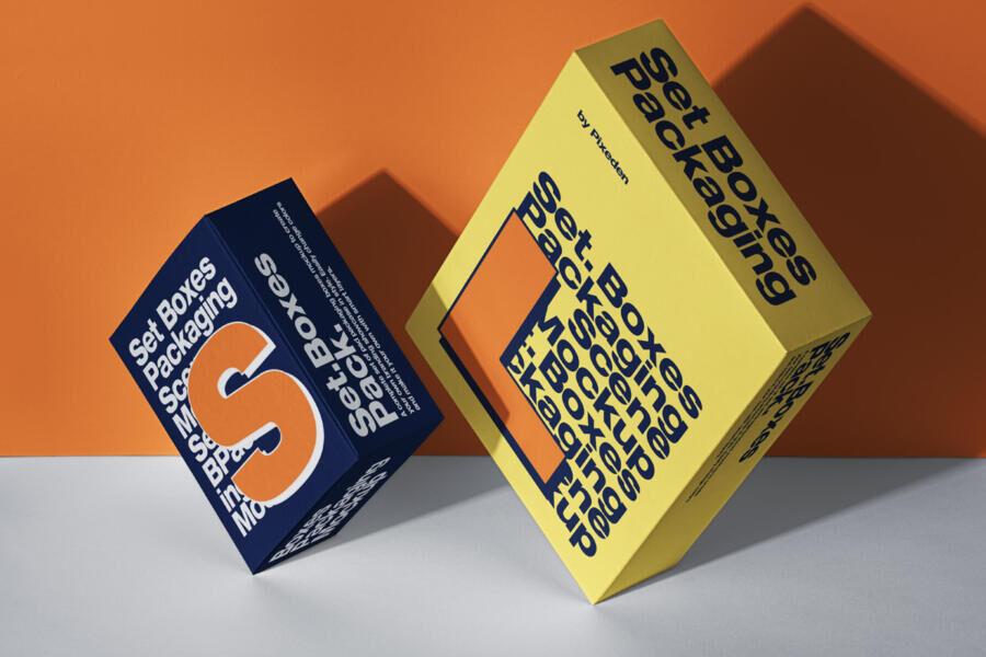 Free Packaging Box Mockup (PSD)