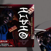 Hip Hop Party Free Instagram Banner Template