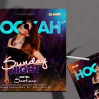 Hookah Special Party Free Instagram Banner Template