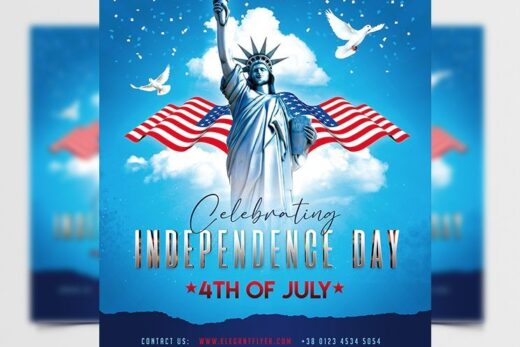 Independence Day 2021 Free Flyer Template (PSD)
