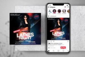 Ladies Night Free Instagram Banner Template (PSD)