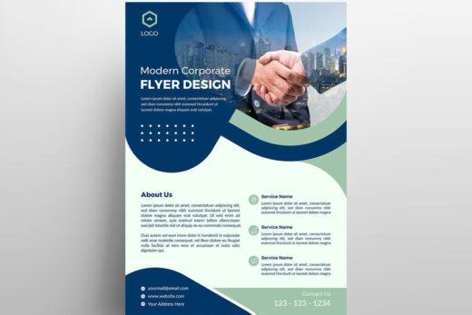 Modern Business Free Flyer Template (PSD)