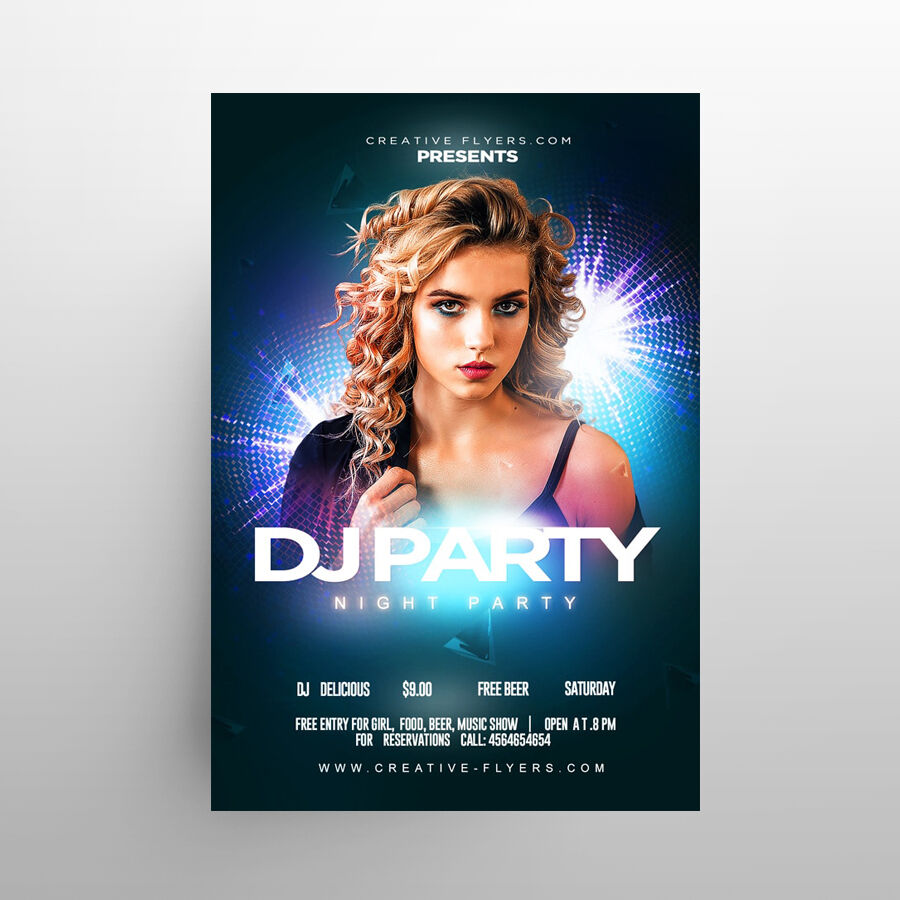Night Club Party Free Flyer Template (PSD)