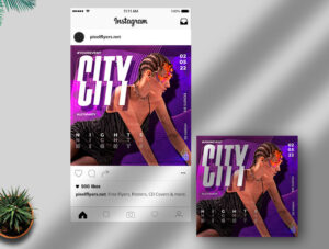 Party Girls Night Free Instagram Banner Template