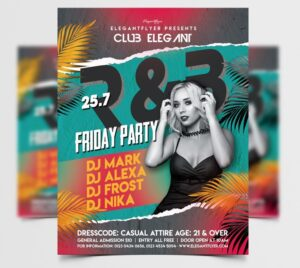 R&B Summer Party Free Flyer Template (PSD)