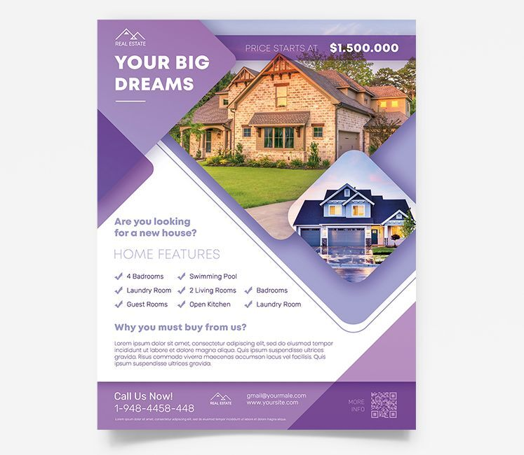 Real Estate Ad Free Flyer Template (PSD)