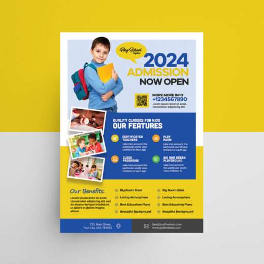 School Admission Open Free Flyer Template (PSD)