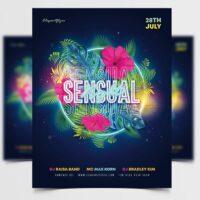 Sensual Summer Night Free Flyer Template (PSD)