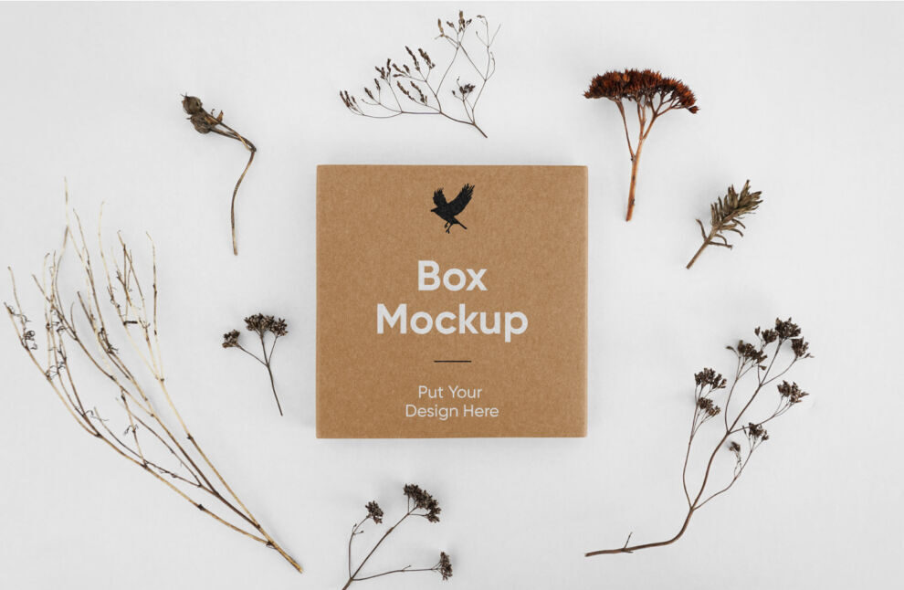 Small Product Box Packaging Free Mockup
