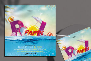 Summer Pool Party Free Flyer Template (PSD)