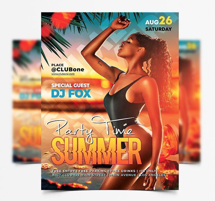 Summertime Event Free Flyer Template (PSD)