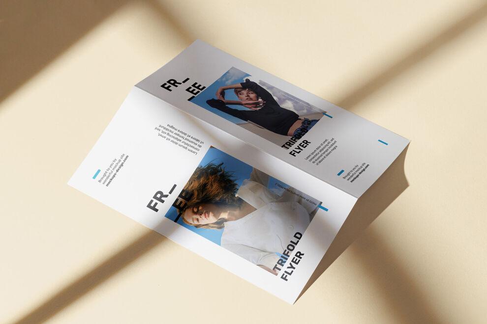 Bi-fold DL Brochure Free Mockup