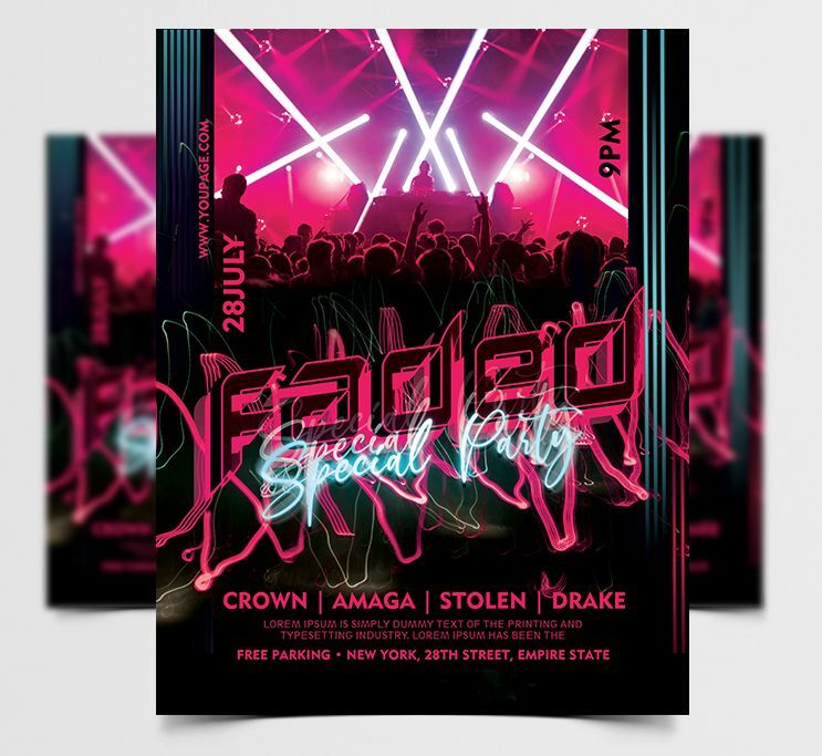 Big Concert Party Free Flyer Template (PSD)