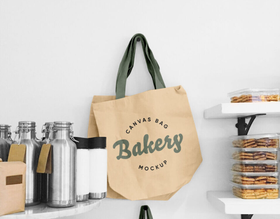 Blank Tote Canvas Bag Free Mockup