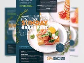 Brunch Weekend Event Free Flyer Template (PSD)