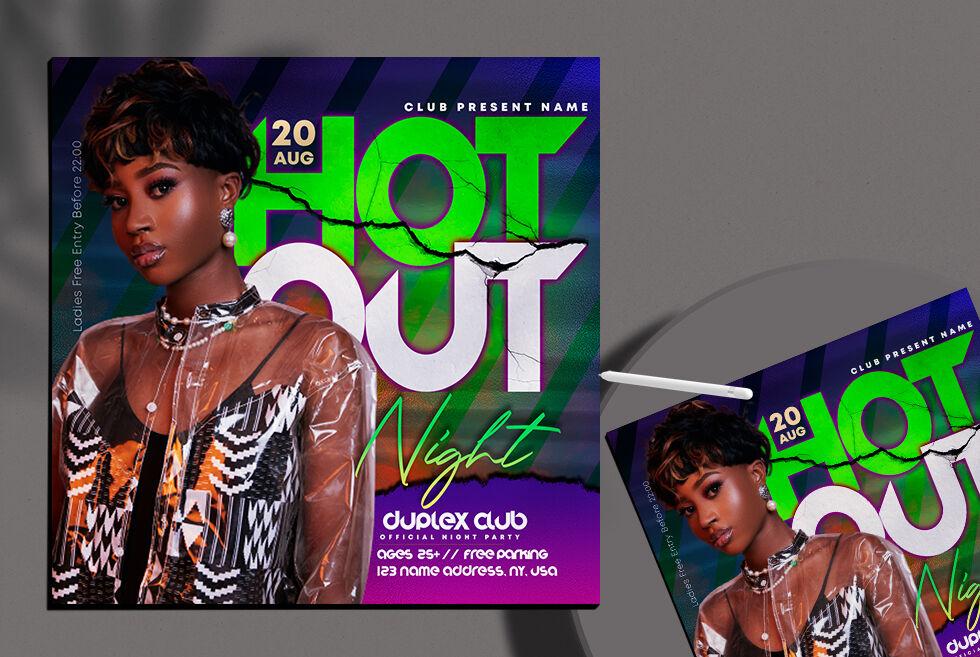 DJ Club Night Free Instagram Banner Template