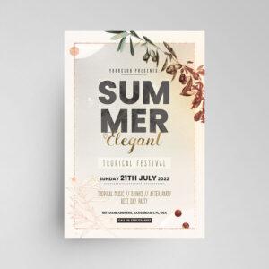 Elegant Summer Invitation Free Flyer Template (PSD)